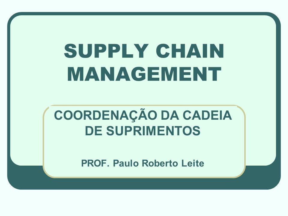 SUPPLY CHAIN MANAGEMENT COORDENAÇÃO DA CADEIA DE SUPRIMENTOS PROF. Paulo Roberto Leite