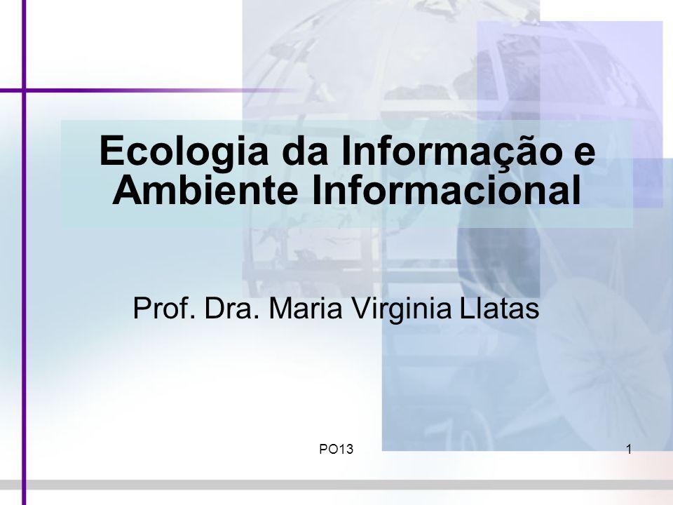PO131 Ecologia da Informação e Ambiente Informacional Prof. Dra. Maria Virginia Llatas