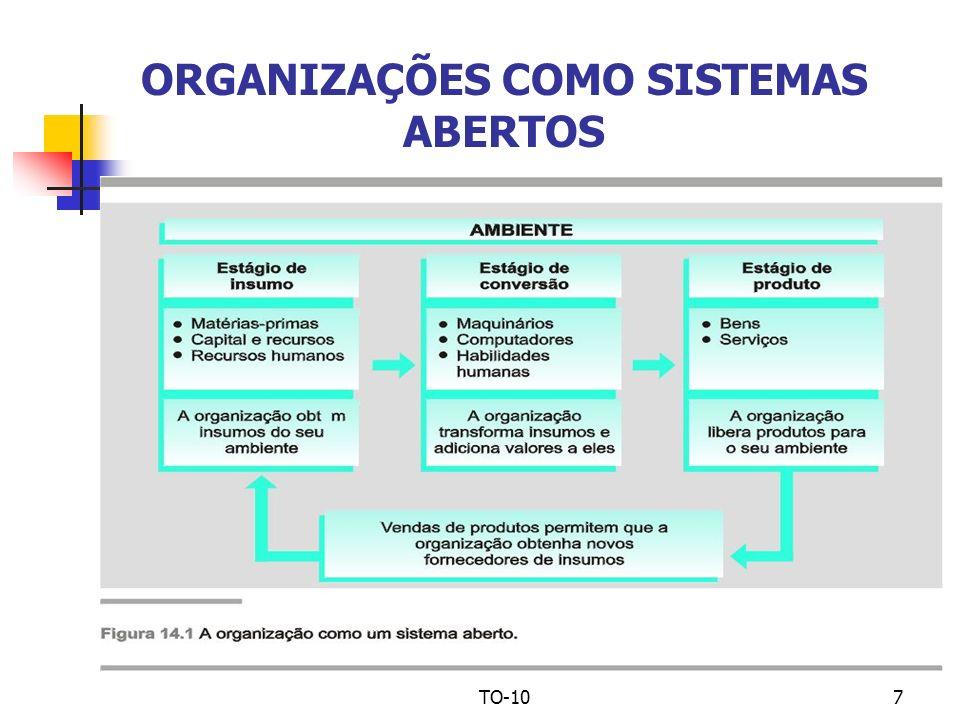 TO-107 ORGANIZAÇÕES COMO SISTEMAS ABERTOS