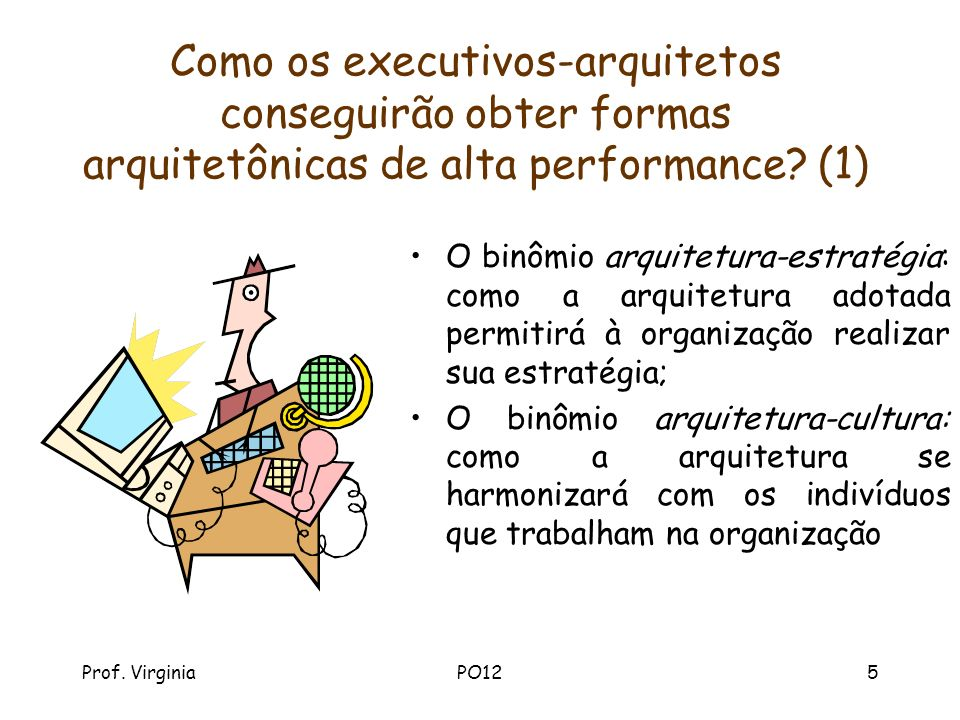 Prof. VirginiaPO125 Como os executivos-arquitetos conseguirão obter formas arquitetônicas de alta performance? (1) O binômio arquitetura-estratégia: c