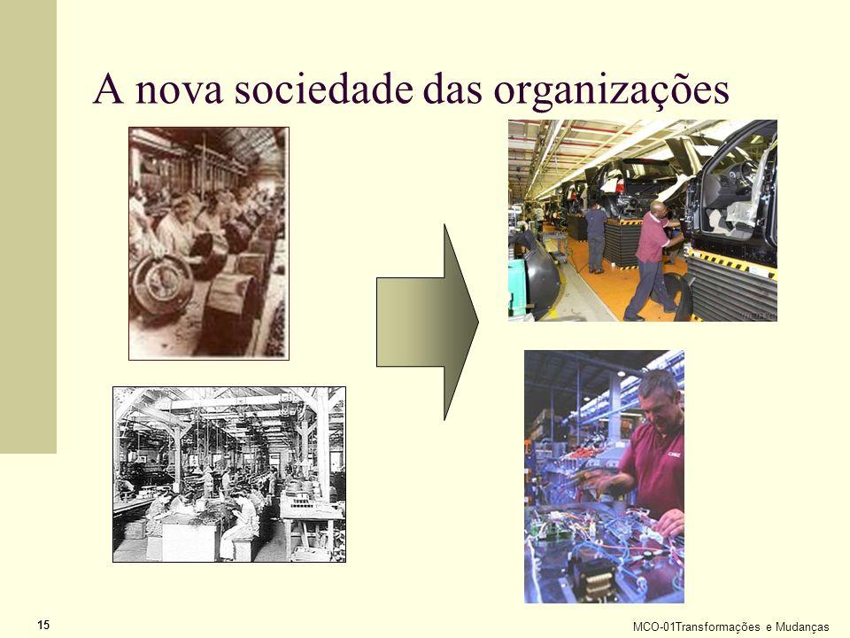 MCO-01Transformações e Mudanças 15 A nova sociedade das organizações