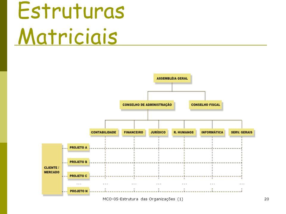 MCO-05-Estrutura das Organizações (1)20 Estruturas Matriciais