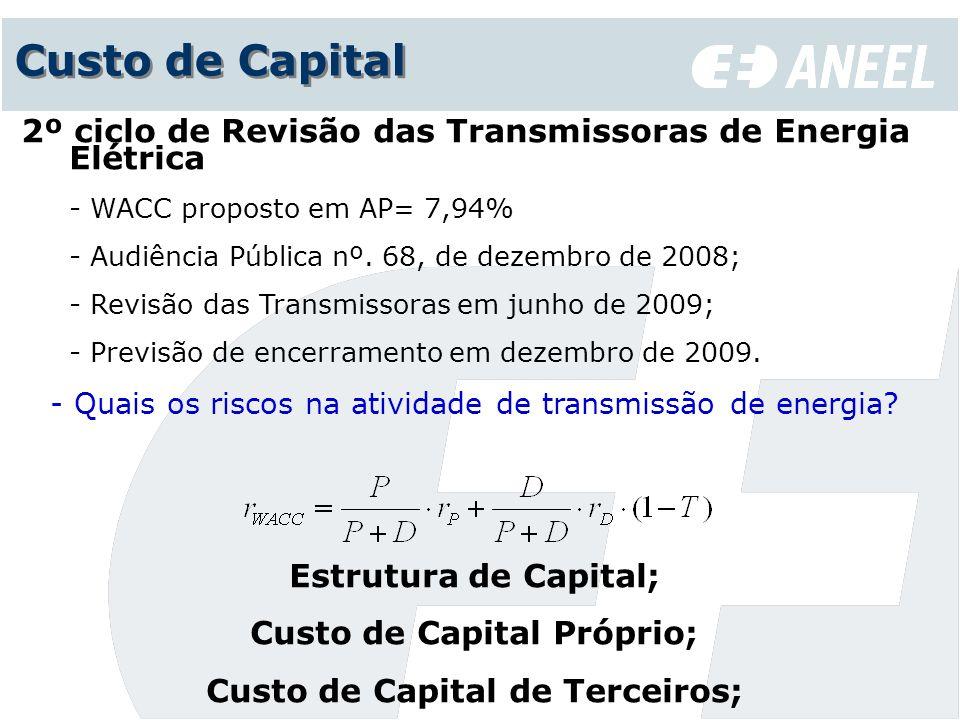 Custo de Capital 2º ciclo de Revisão das Transmissoras de Energia Elétrica - WACC proposto em AP= 7,94% - Audiência Pública nº. 68, de dezembro de 200