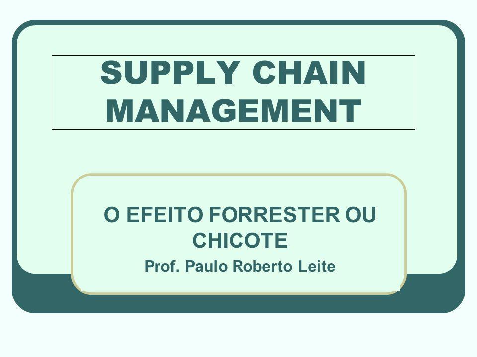 SUPPLY CHAIN MANAGEMENT O EFEITO FORRESTER OU CHICOTE Prof. Paulo Roberto Leite