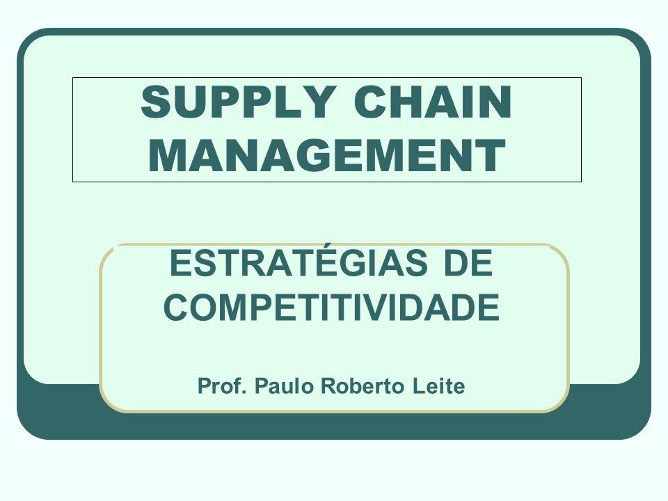 SUPPLY CHAIN MANAGEMENT ESTRATÉGIAS DE COMPETITIVIDADE Prof. Paulo Roberto Leite