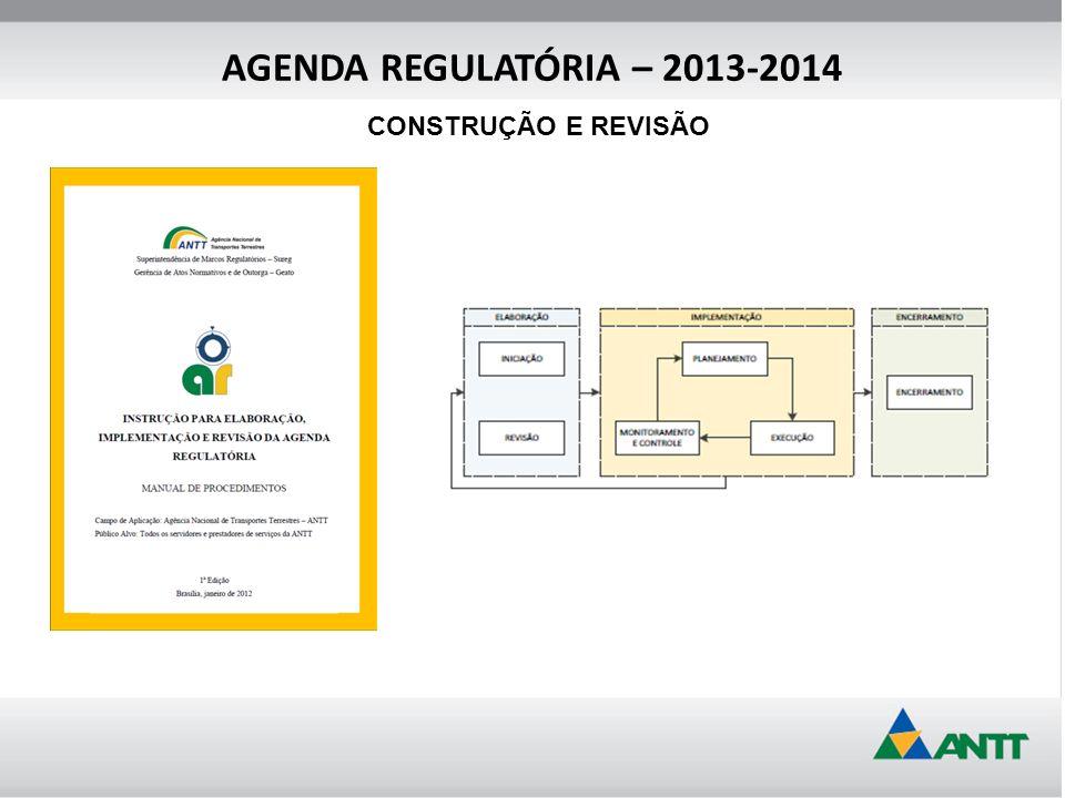 AGENDA REGULATÓRIA – 2013-2014 CONSTRUÇÃO E REVISÃO