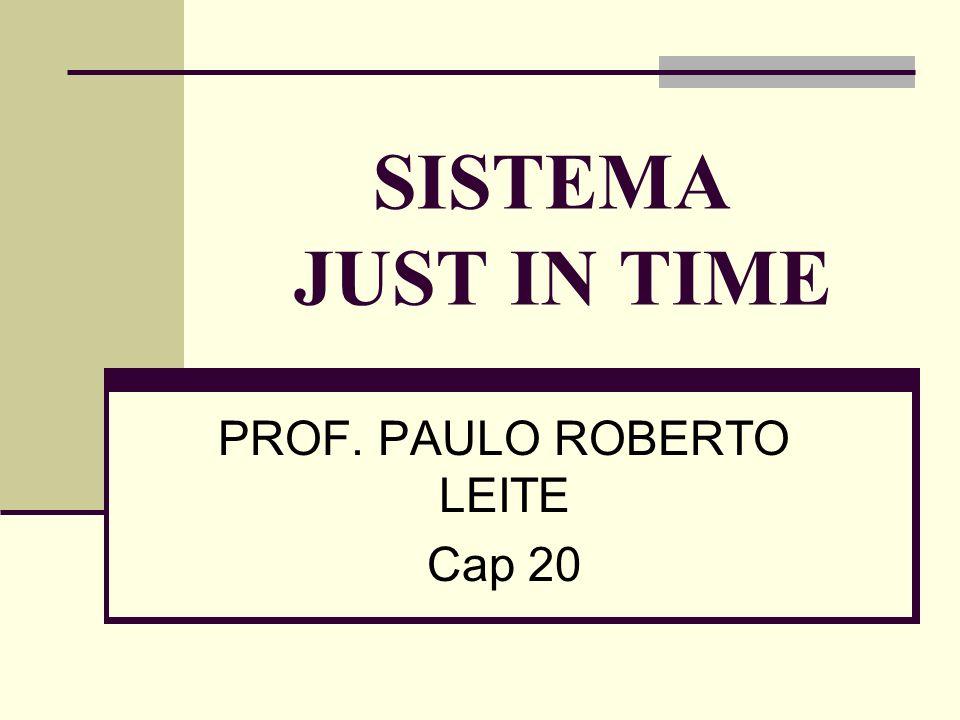 SISTEMA JUST IN TIME PROF. PAULO ROBERTO LEITE Cap 20