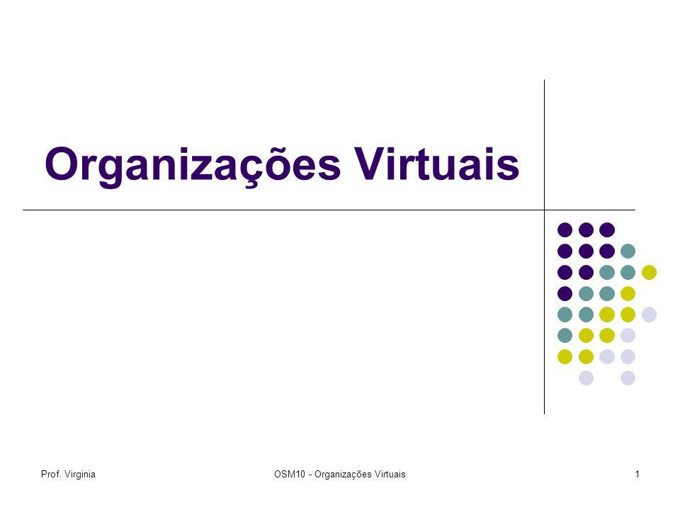 Prof. VirginiaOSM10 - Organizações Virtuais1 Organizações Virtuais