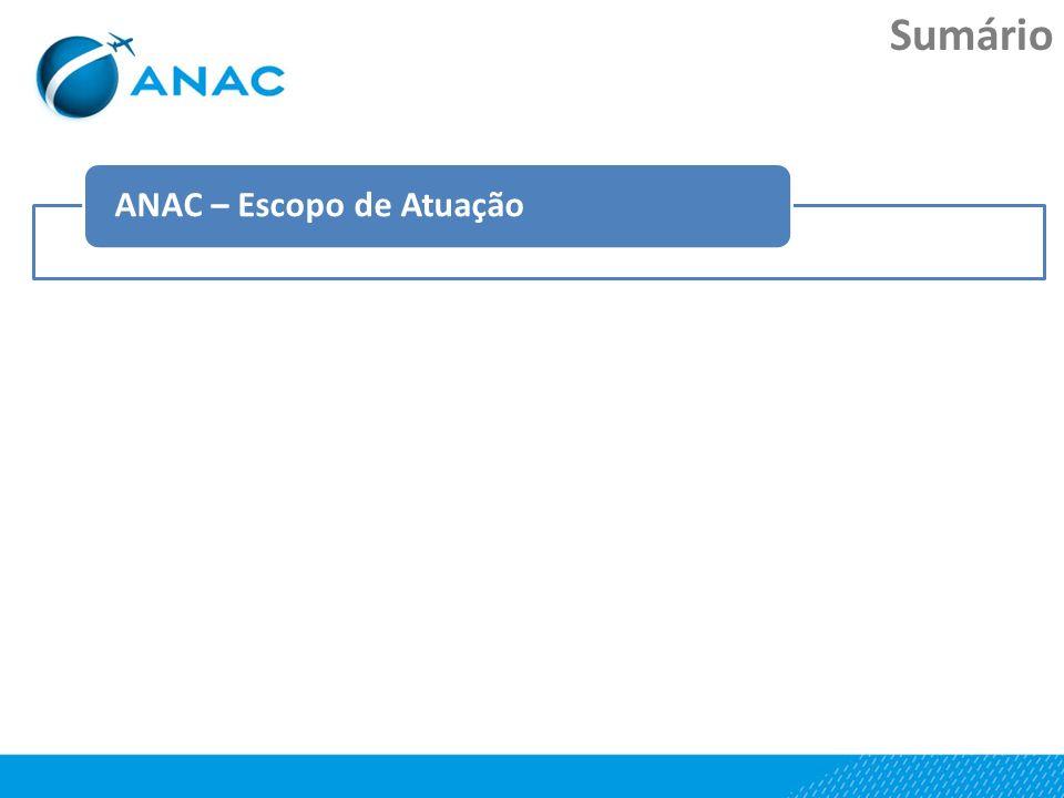 Sumário ANAC – Escopo de Atuação Agenda RegulatóriaPrograma de Fortalecimento Institucional