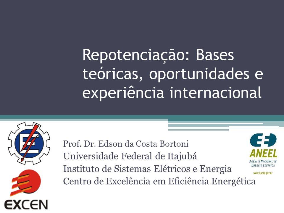 Repotenciação: Bases teóricas, oportunidades e experiência internacional Prof. Dr. Edson da Costa Bortoni Universidade Federal de Itajubá Instituto de