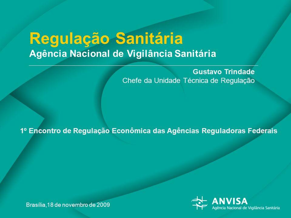 1º Encontro de Regulação Econômica 2009 - Agência Nacional de Vigilância Sanitária Regulação Sanitária Agência Nacional de Vigilância Sanitária Gustav