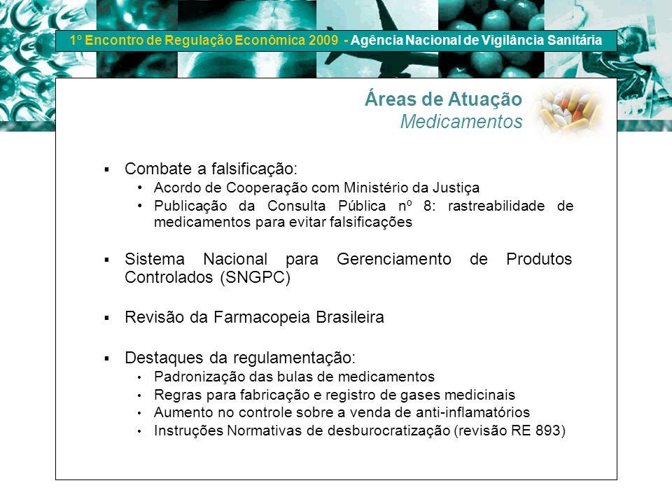 1º Encontro de Regulação Econômica 2009 - Agência Nacional de Vigilância Sanitária Combate a falsificação: Acordo de Cooperação com Ministério da Just