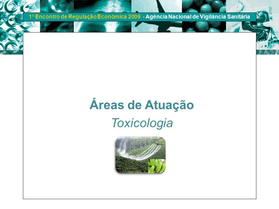 1º Encontro de Regulação Econômica 2009 - Agência Nacional de Vigilância Sanitária Áreas de Atuação Toxicologia