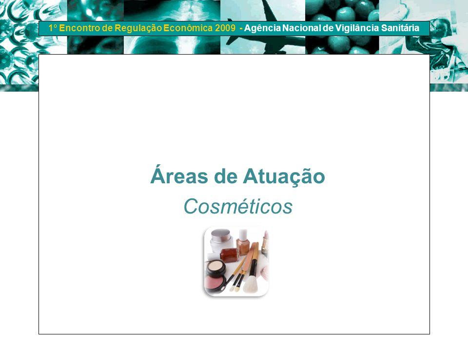 1º Encontro de Regulação Econômica 2009 - Agência Nacional de Vigilância Sanitária Áreas de Atuação Cosméticos