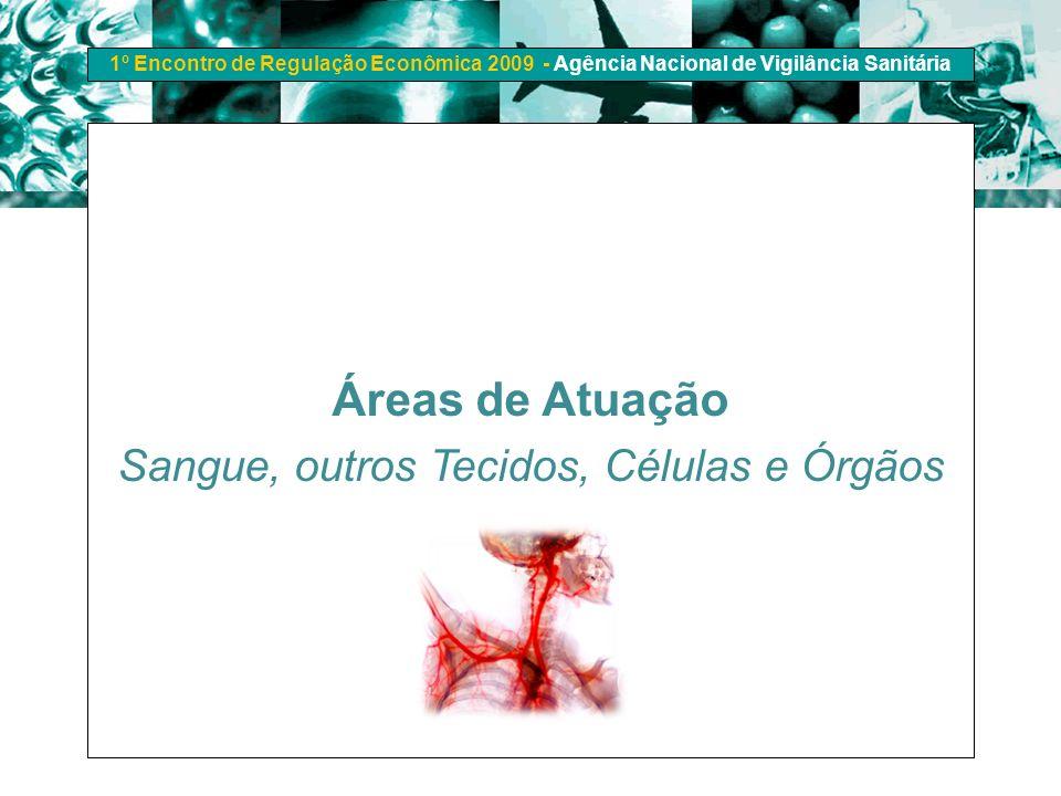 1º Encontro de Regulação Econômica 2009 - Agência Nacional de Vigilância Sanitária Áreas de Atuação Sangue, outros Tecidos, Células e Órgãos