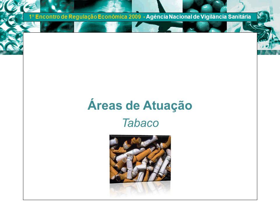 1º Encontro de Regulação Econômica 2009 - Agência Nacional de Vigilância Sanitária Áreas de Atuação Tabaco