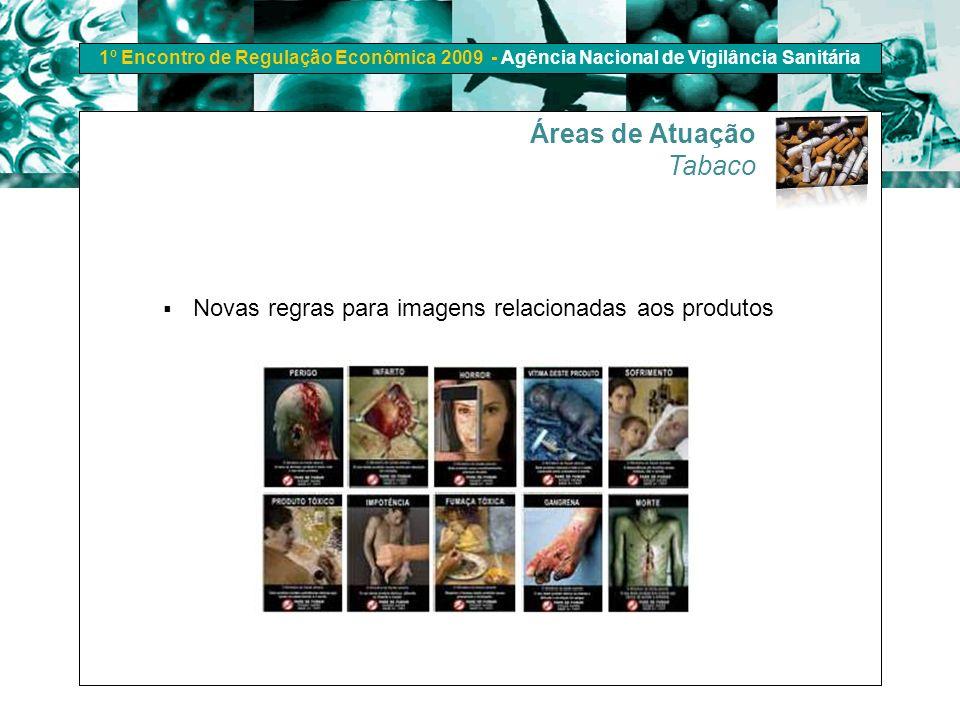 1º Encontro de Regulação Econômica 2009 - Agência Nacional de Vigilância Sanitária Novas regras para imagens relacionadas aos produtos Áreas de Atuaçã