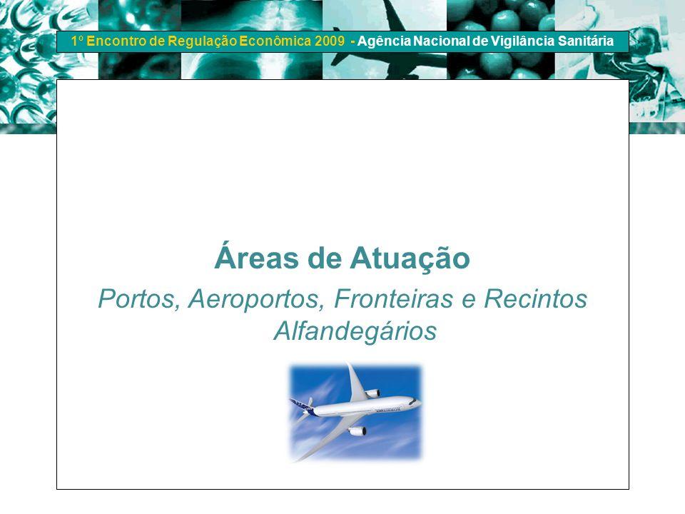 1º Encontro de Regulação Econômica 2009 - Agência Nacional de Vigilância Sanitária Áreas de Atuação Portos, Aeroportos, Fronteiras e Recintos Alfandeg