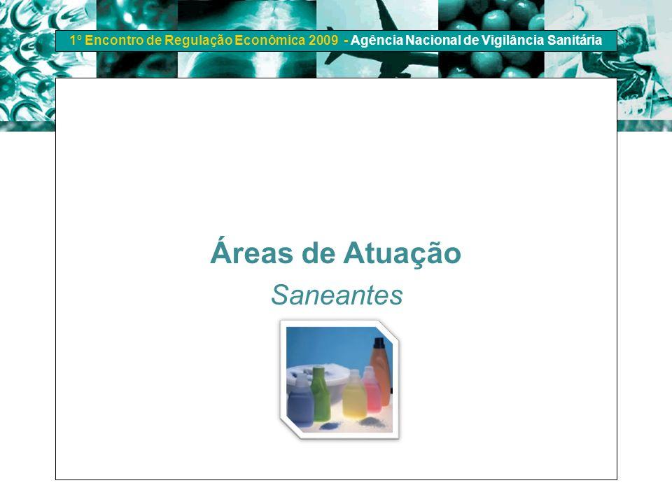 1º Encontro de Regulação Econômica 2009 - Agência Nacional de Vigilância Sanitária Áreas de Atuação Saneantes