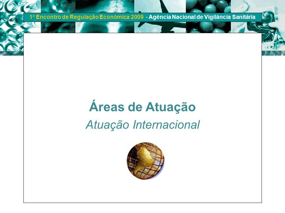 1º Encontro de Regulação Econômica 2009 - Agência Nacional de Vigilância Sanitária Áreas de Atuação Atuação Internacional