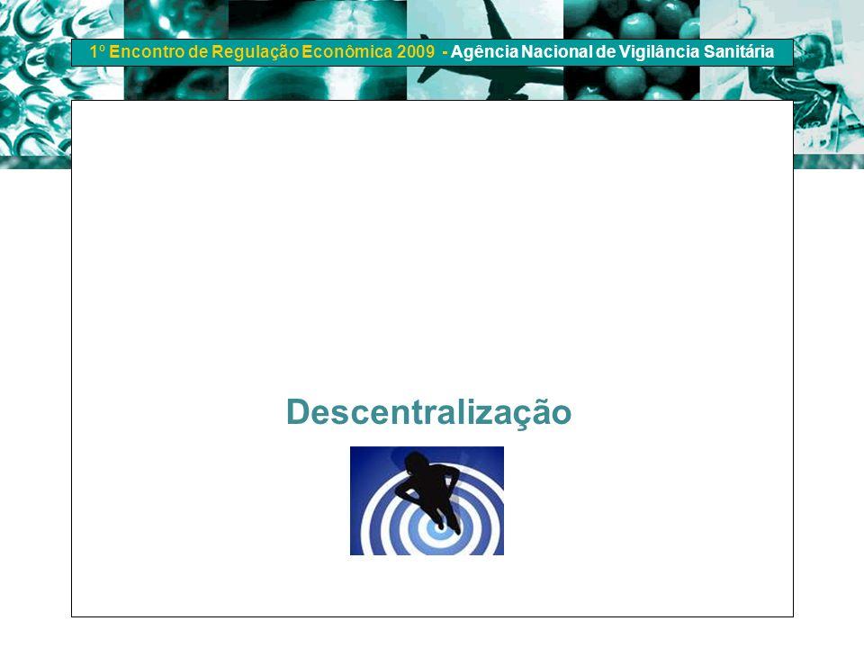 1º Encontro de Regulação Econômica 2009 - Agência Nacional de Vigilância Sanitária Descentralização