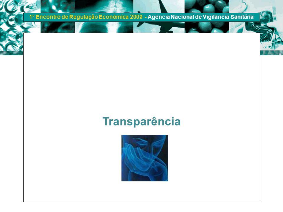 1º Encontro de Regulação Econômica 2009 - Agência Nacional de Vigilância Sanitária Transparência