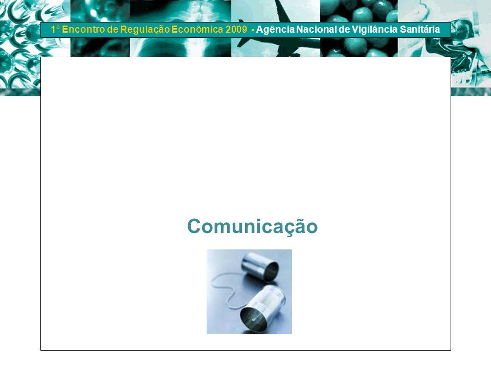 1º Encontro de Regulação Econômica 2009 - Agência Nacional de Vigilância Sanitária Comunicação