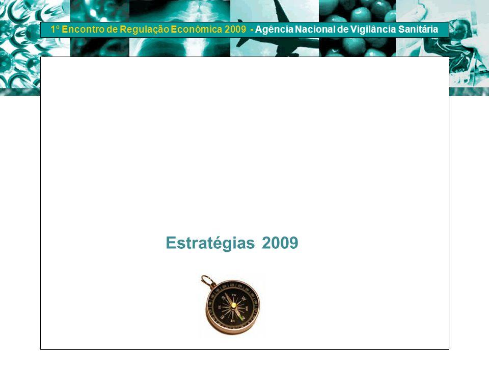1º Encontro de Regulação Econômica 2009 - Agência Nacional de Vigilância Sanitária Estratégias 2009