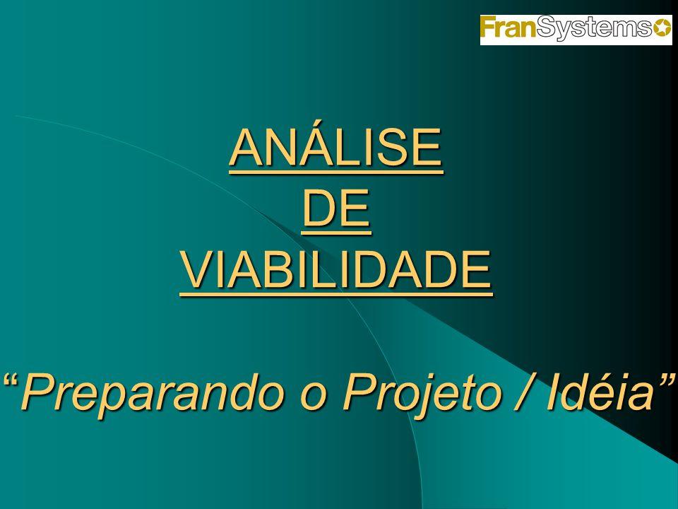 ANÁLISE DE VIABILIDADEPreparando o Projeto / Idéia