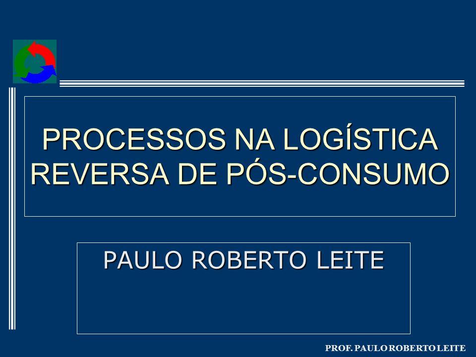 PROF. PAULO ROBERTO LEITE PROCESSOS NA LOGÍSTICA REVERSA DE PÓS-CONSUMO PAULO ROBERTO LEITE
