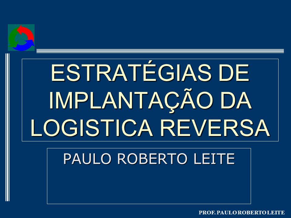 PROF. PAULO ROBERTO LEITE ESTRATÉGIAS DE IMPLANTAÇÃO DA LOGISTICA REVERSA PAULO ROBERTO LEITE
