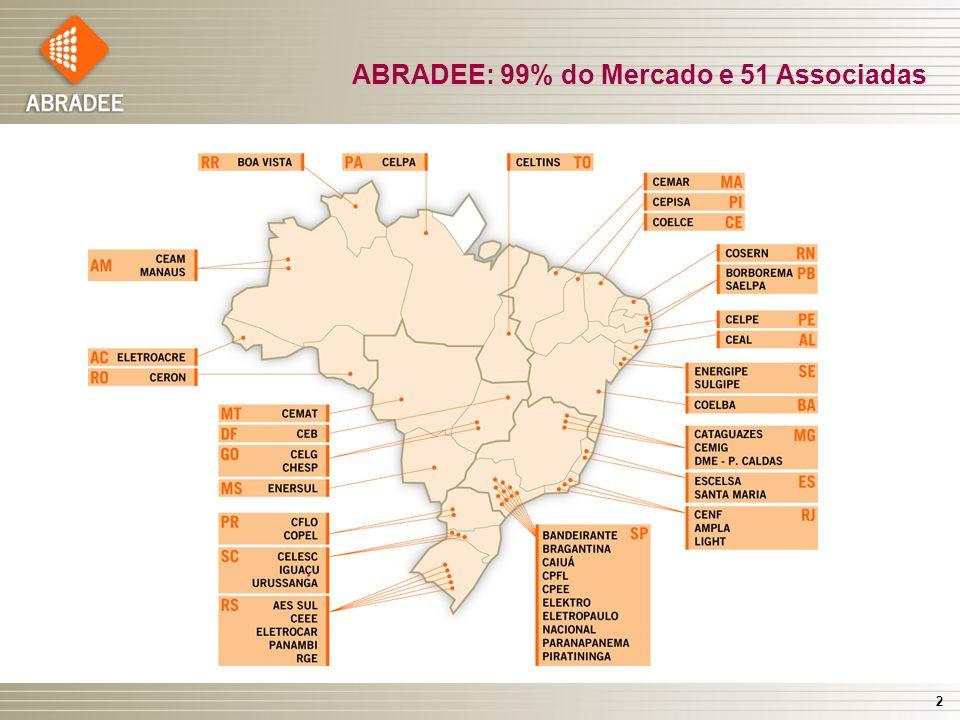 2 ABRADEE: 99% do Mercado e 51 Associadas