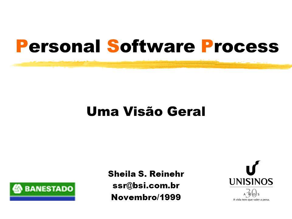 Personal Software Process Uma Visão Geral Sheila S. Reinehr ssr@bsi.com.br Novembro/1999