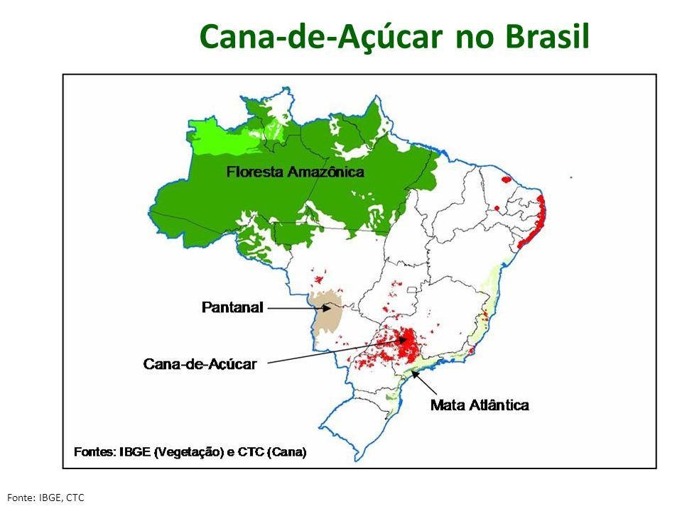 Cana-de-Açúcar no Brasil Fonte: IBGE, CTC