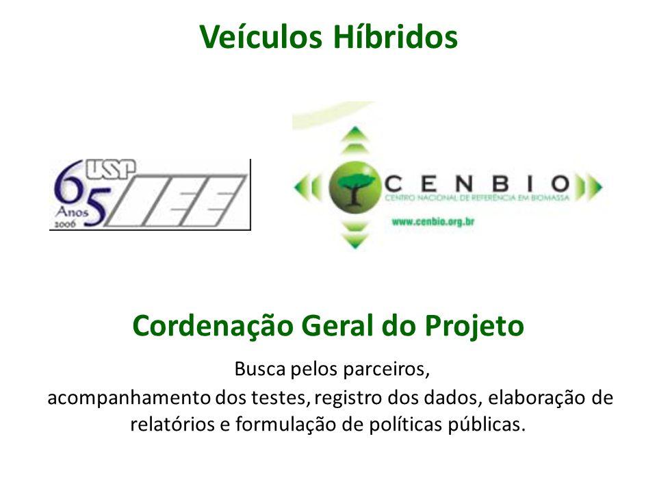 Cordenação Geral do Projeto Busca pelos parceiros, acompanhamento dos testes, registro dos dados, elaboração de relatórios e formulação de políticas p