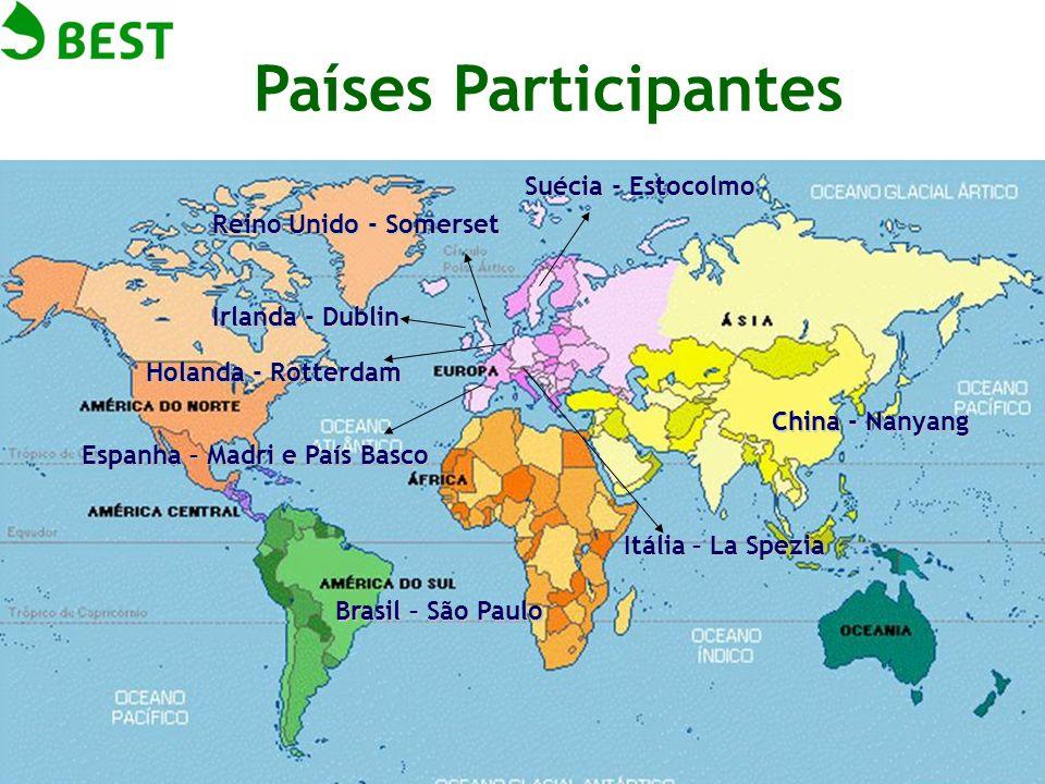 Países Participantes Suécia - Estocolmo Reino Unido - Somerset Irlanda - Dublin Espanha – Madri e País Basco Itália – La Spezia Holanda - Rotterdam Ch
