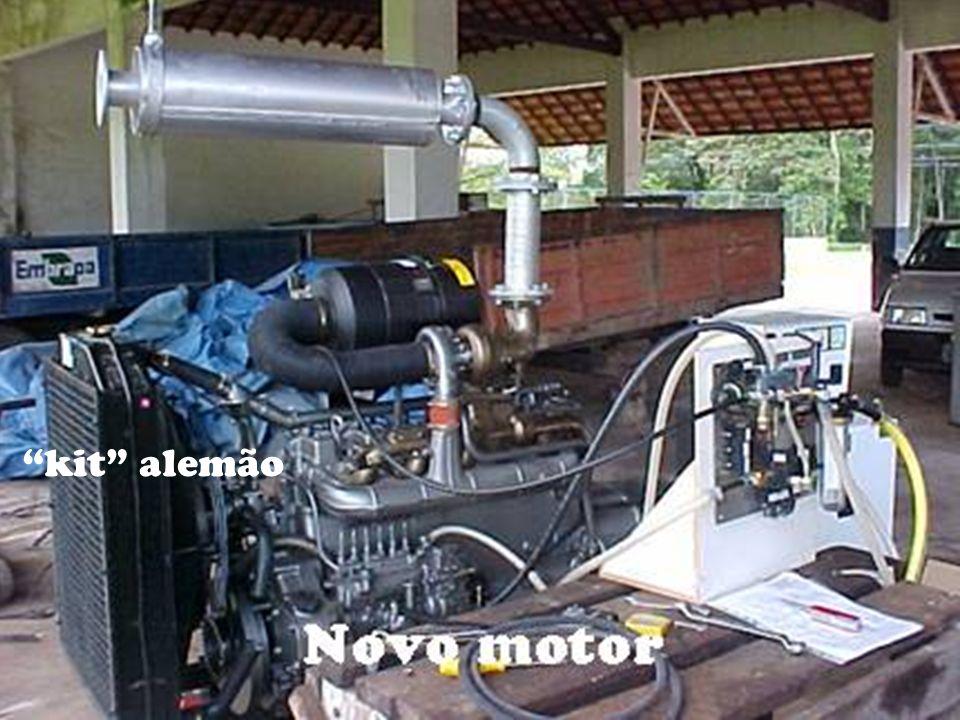 Troca do motor Diesel - Custo e poluição. Parâmetros de funcionamento. Replicação. kit alemão