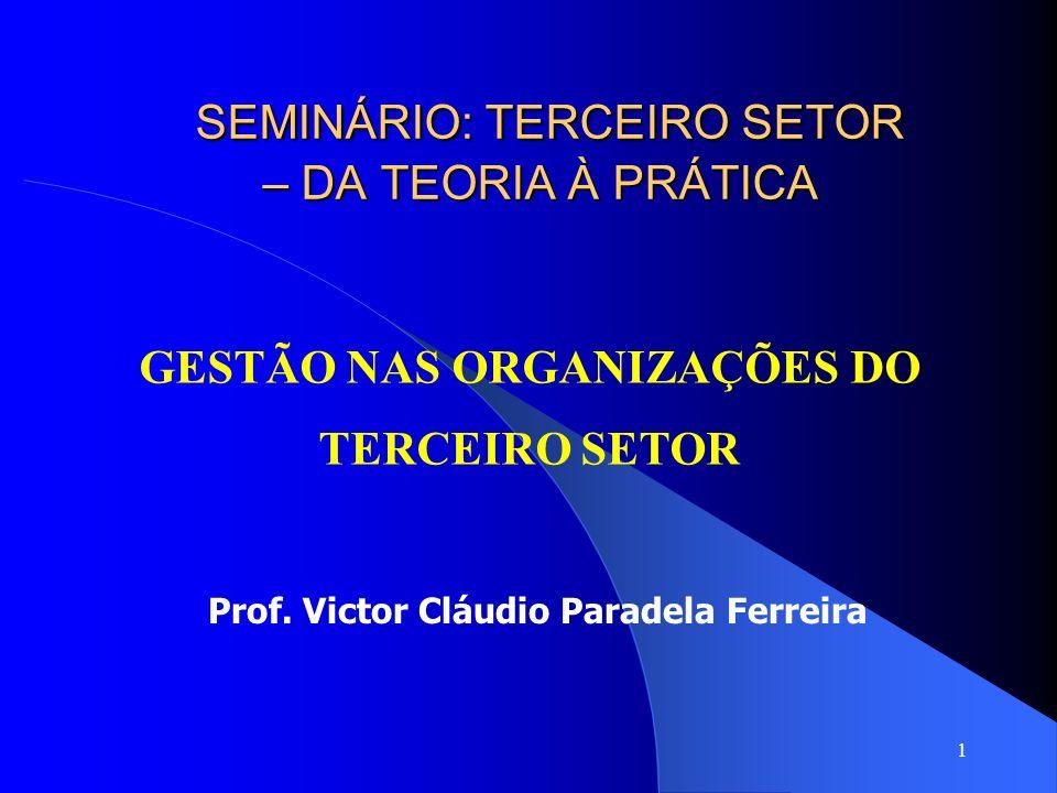 32 Modelo de Gestão O processo de gestão do terceiro setor pode se pautar pela lógica do mercado – da gestão estratégica, em vez da lógica da solidariedade comunitária – da gestão social.