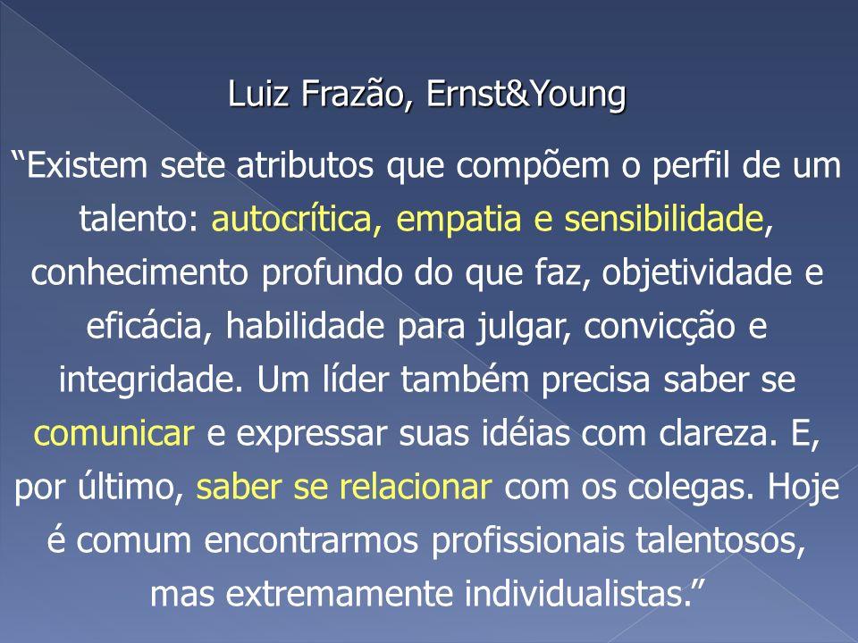 Luiz Frazão, Ernst&Young Luiz Frazão, Ernst&Young Existem sete atributos que compõem o perfil de um talento: autocrítica, empatia e sensibilidade, con