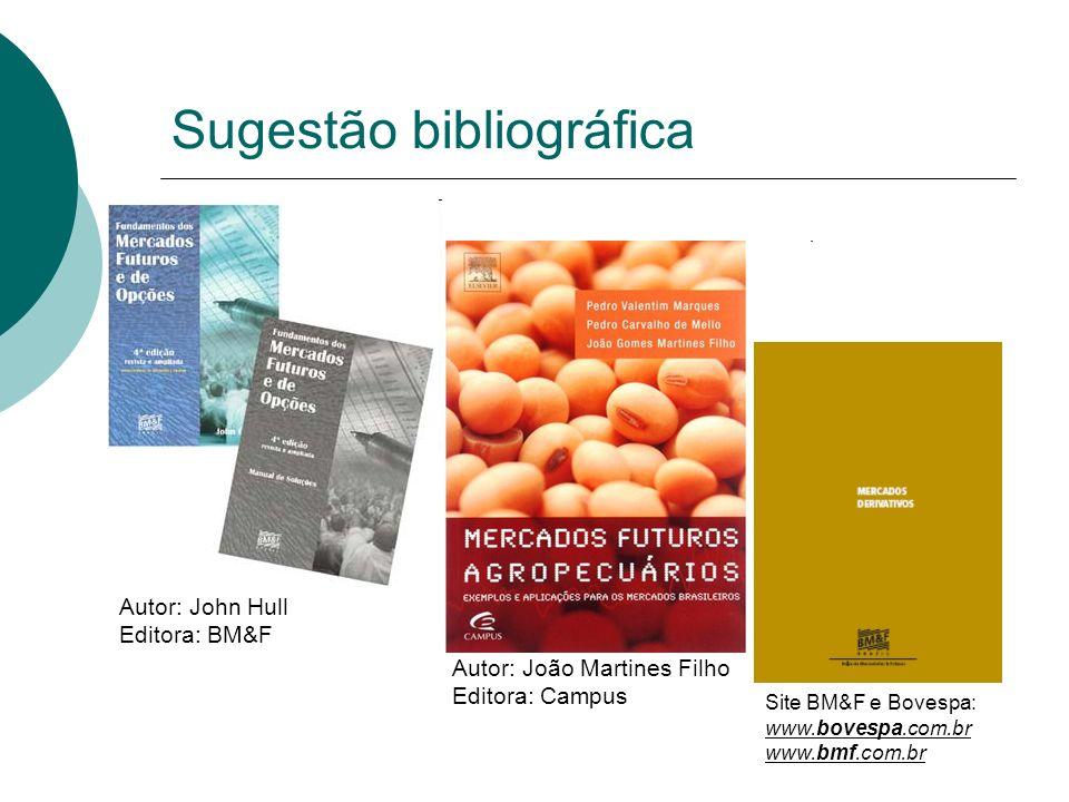 16 Autor: João Martines Filho Editora: Campus Autor: John Hull Editora: BM&F Site BM&F e Bovespa: www.bovespa.com.br www.bmf.com.br Sugestão bibliográ