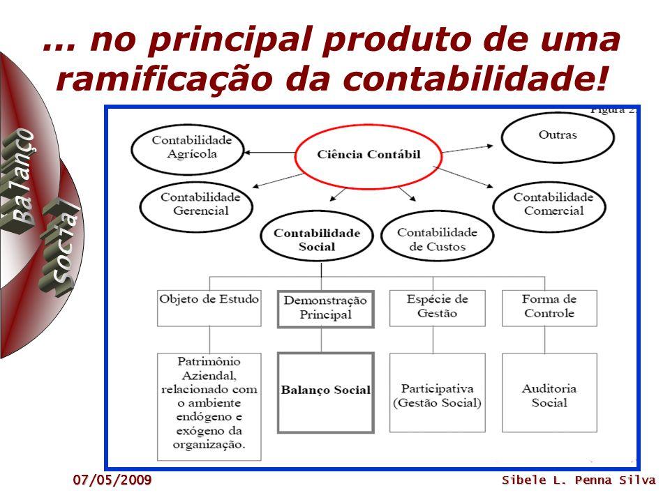 07/05/2009 Sibele L. Penna Silva... no principal produto de uma ramificação da contabilidade!