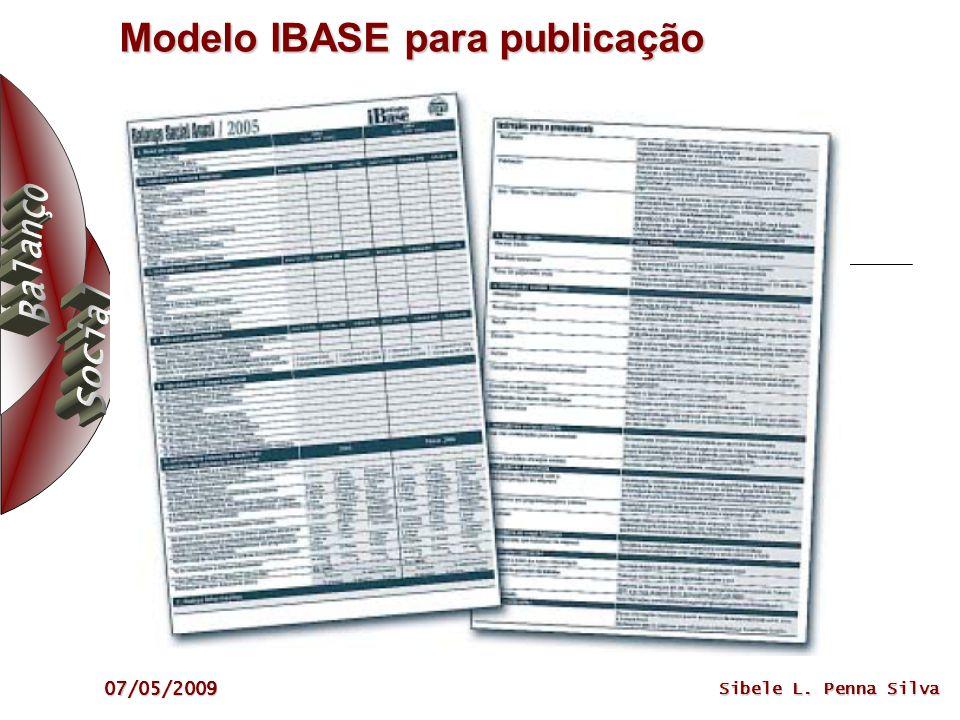 07/05/2009 Sibele L. Penna Silva Modelo IBASE para publicação