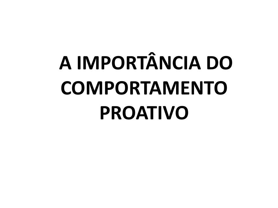 A IMPORTÂNCIA DO COMPORTAMENTO PROATIVO