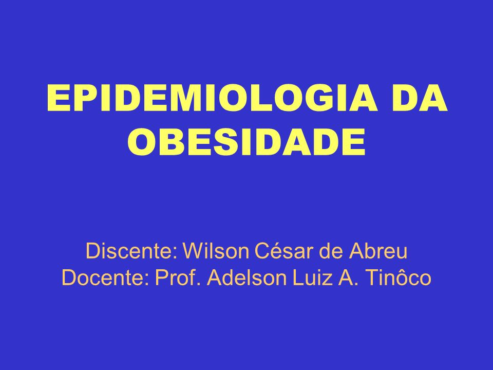 EPIDEMIOLOGIA NUTRICIONAL É um ramo da ciência epidemiológica, que estuda indivíduo ou população, a base científica em que a nutrição se apóia para explicar a ocorrência e distribuição de doenças e sua relação com a dieta.