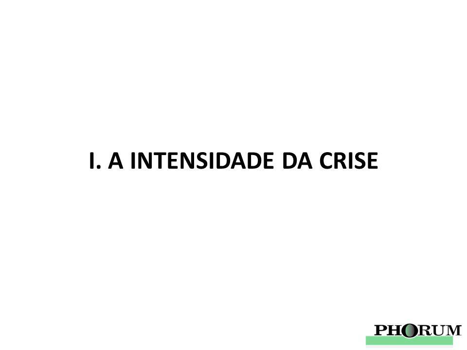 I. A INTENSIDADE DA CRISE