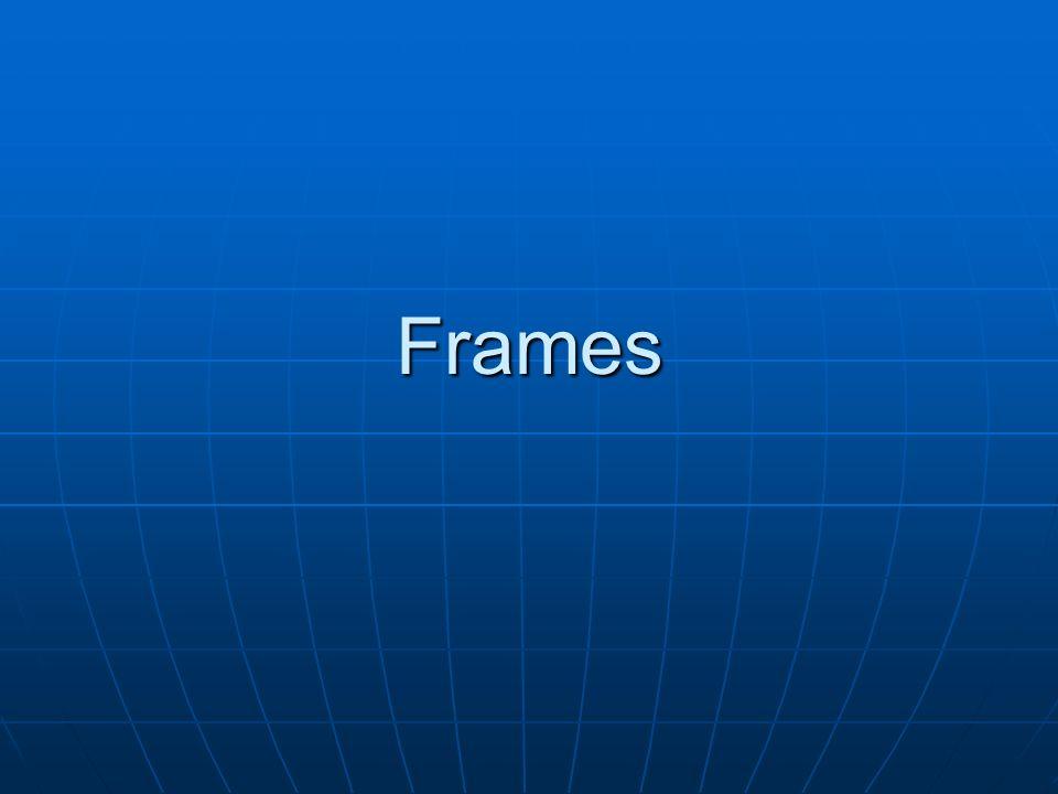 Frames Horizontais <html><head><title>FRAMES</title></head> </frameset></html> Será necessário criar as páginas Cliente.html, Produto.html e Fornecedor.html