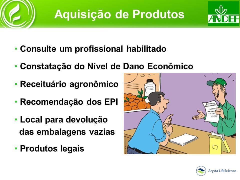 Aquisição de Produtos Consulte um profissional habilitado Constatação do Nível de Dano Econômico Receituário agronômico Recomendação dos EPI Local par