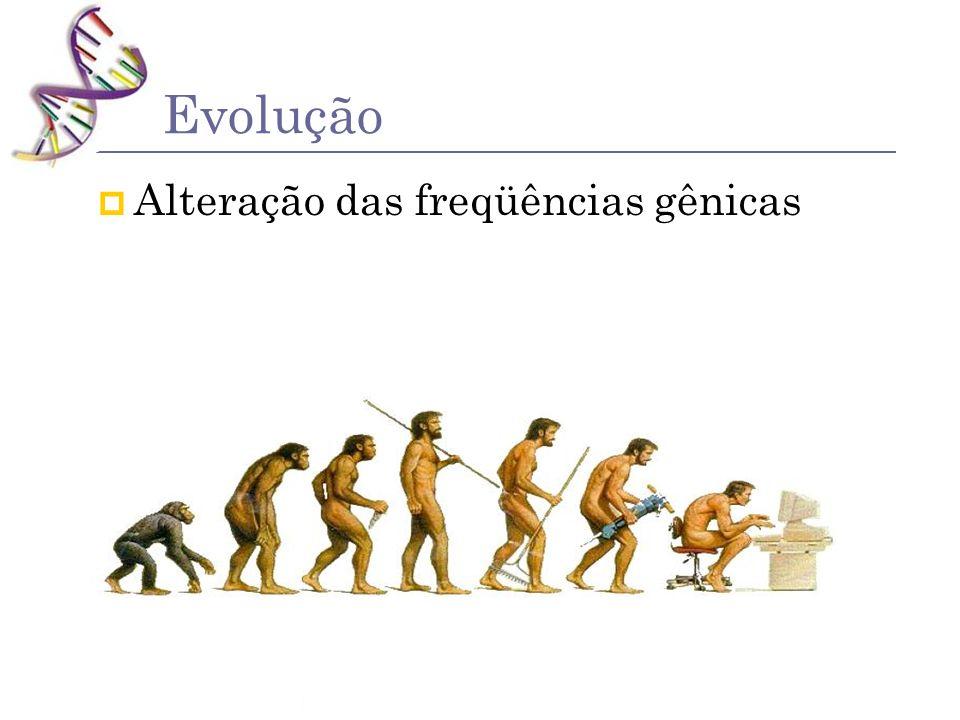 Evolução Alteração das freqüências gênicas