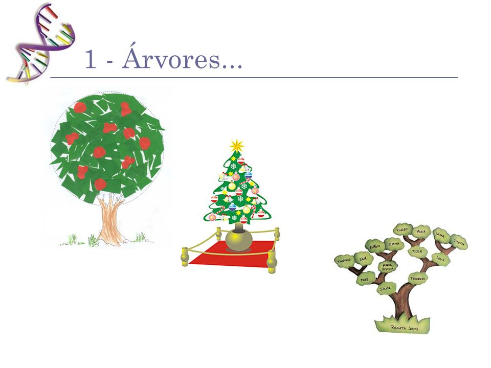 Árvores Filogenéticas A B D E F G H I C OTU – Unidade Taxonômica Operacional (Nó terminal) Ramo Terminal Nó ancestral Ramo Ancestral
