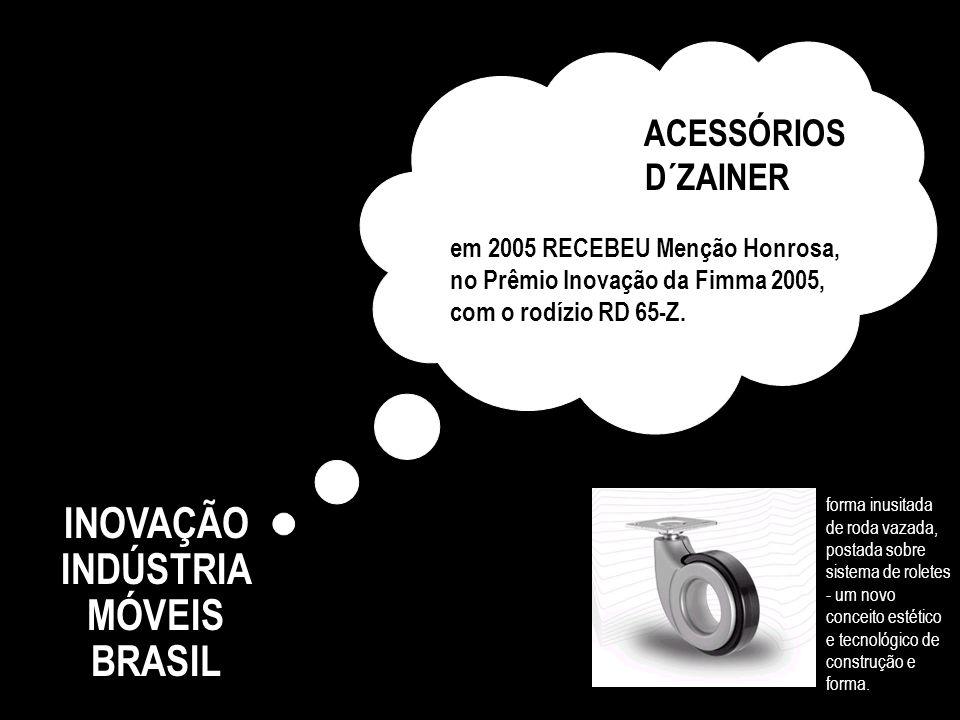 INOVAÇÃO INDÚSTRIA MÓVEIS BRASIL MÓVEIS SANTOS ANDIRÁ em 2004 foi a 21 a colocada da Região Sul, pela Revista Amanhã. Solicitou 16 patentes ao INPI en